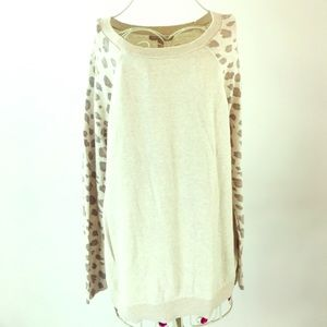 Banana Republic. Beige sweater with animal print